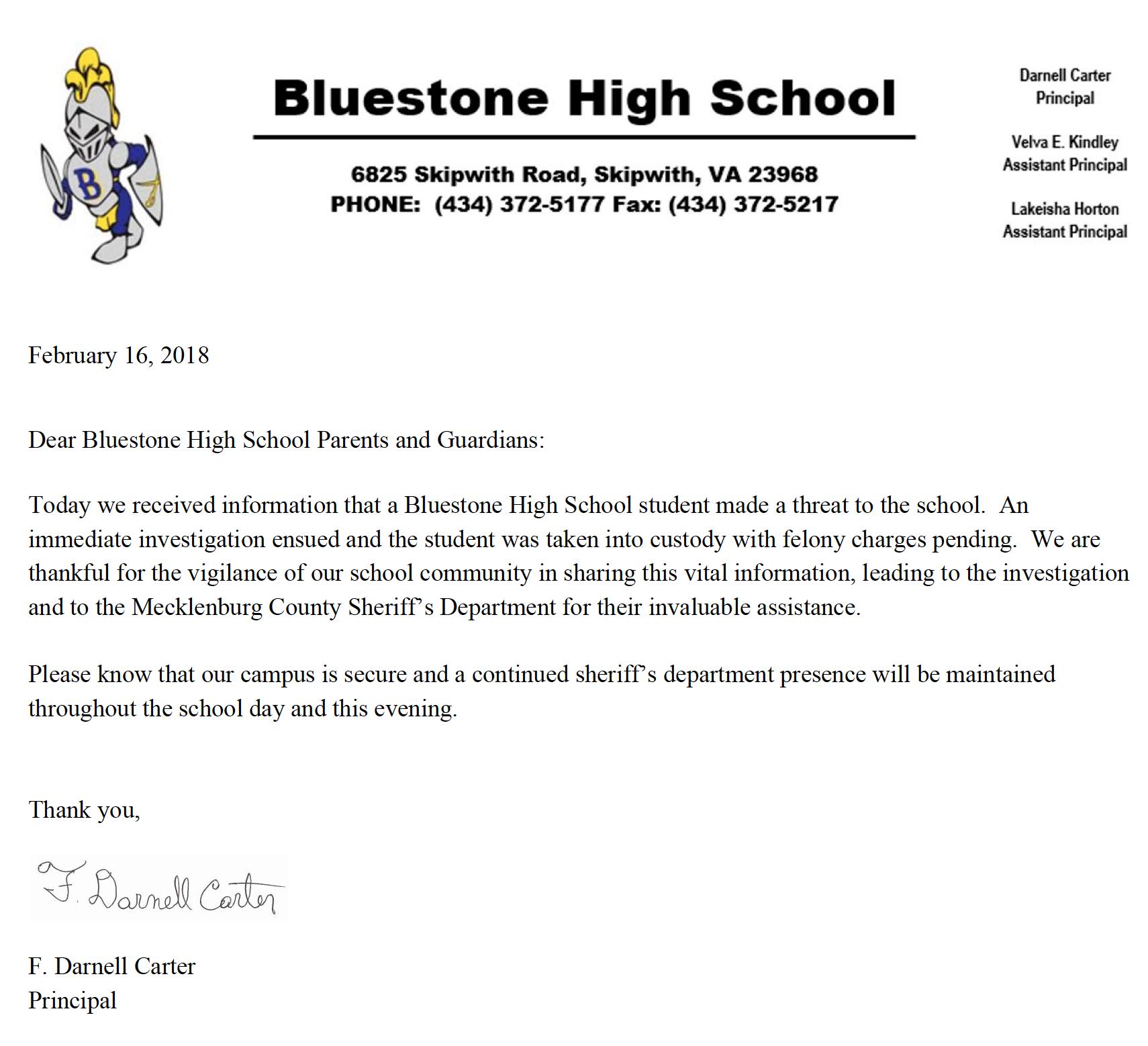 Bluestone PR 2/16/18