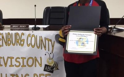 Elijah Marrow represented BMS at Division Spelling Bee
