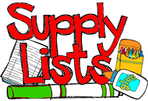2018-2019 Supply List