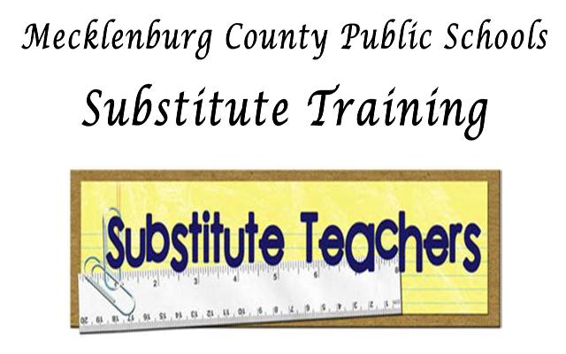 Substitute Training, Sept. 26