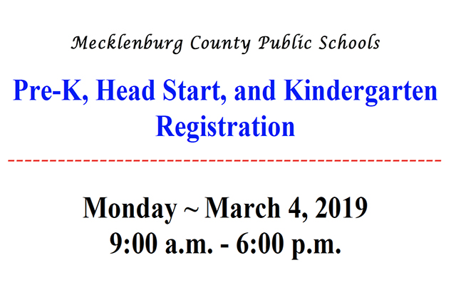 Pre-K, Head Start, and Kindergarten Registration