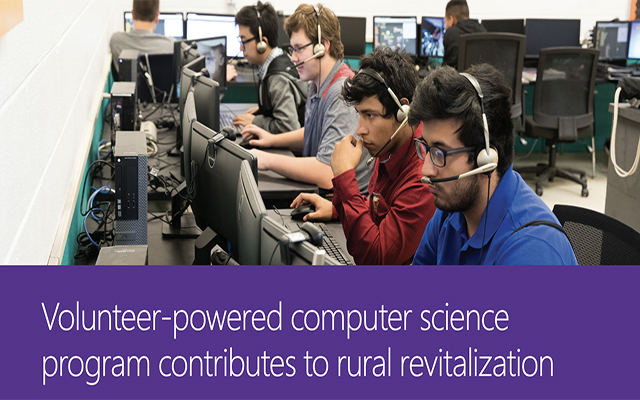 Volunteer-powered computer science program contributes to rural revitalization