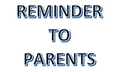 Reminder To Parents (About Moving)
