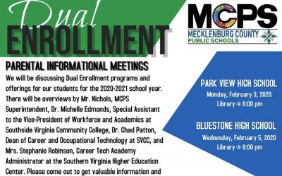 Dual Enrollment Program Informational Meetings