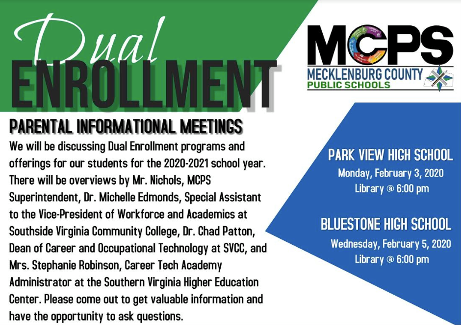 Dual Enrollment Program Informational Meetings