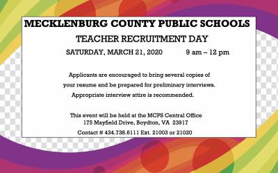 Mecklenburg County Public Schools, Teacher Recruitment Day