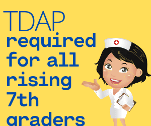 Virginia requires that all children entering into the 7th grade receive a Tdap booster